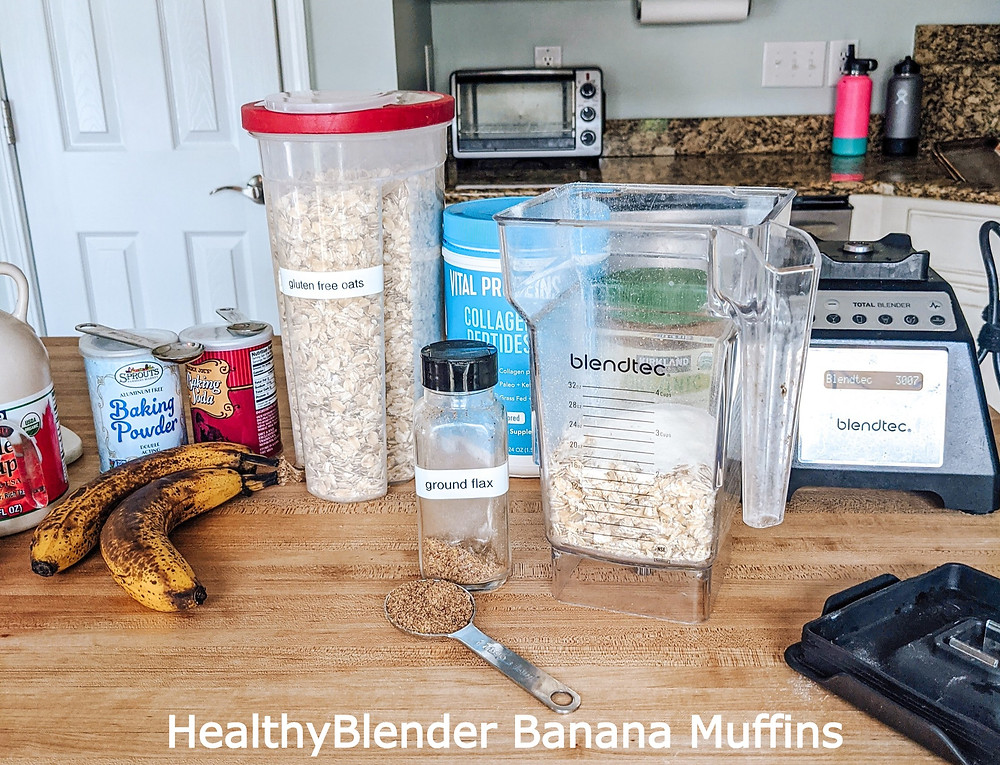 vegan, plant based, muffin, healthy muffin, healthy baking, collagen peptides, vital proteins, almond butter, blueberry muffin, banana muffin, banana nut muffin, chocolate chip muffin, gluten-free baking, vegan-baking, gluten free muffin, vegan muffin, healthy muffin, protein snack, protein muffin, clean eating, clean recipe, healthy recipe, healthy food, muffin recipe