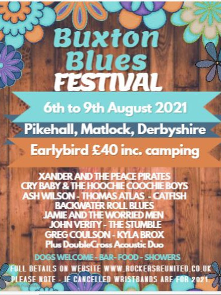 Extra night camping for Buxton Blues Festival 2020