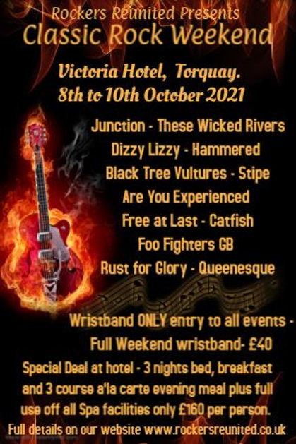 Torquay 8th October - Friday only Wristband
