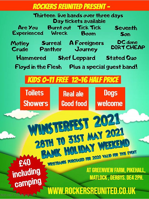 Extra night camping at Winsterfest 2021
