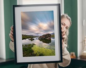 Matterhorn print in frame