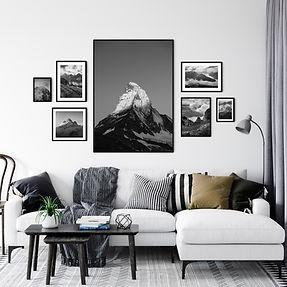 Matterhorn photos on a wall