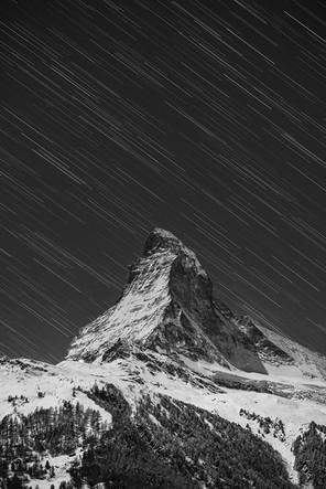 Star trails in winter