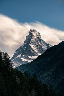Matterhorn Photo in Colour - view from Tasch