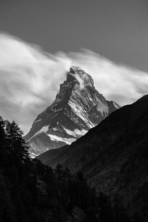 Matterhorn in Clouds