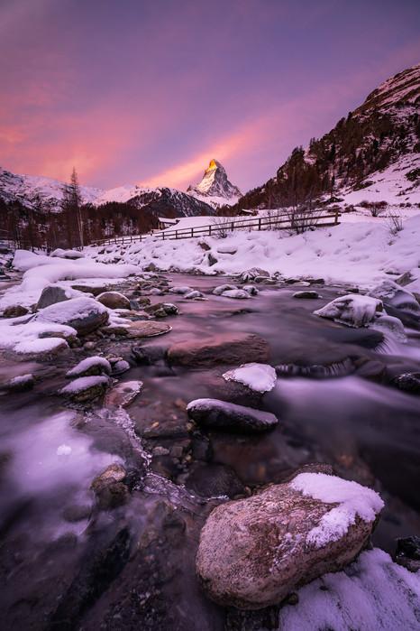 Winter morning in Zermatt
