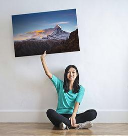 Canvas print with Matterhorn photo
