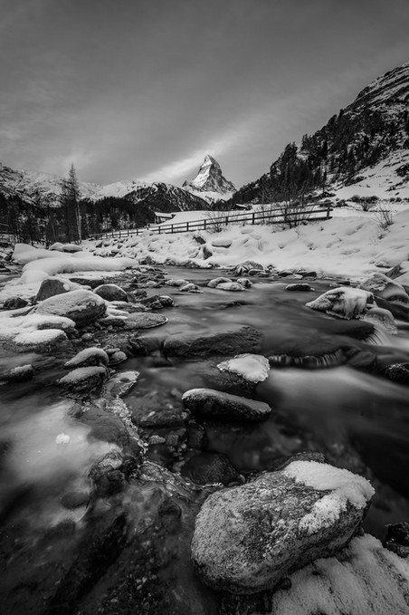 Morning in Zermatt BW