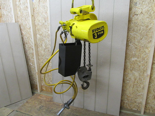 Budgit 114394-6 Pneumatic Air Chain Hoist 11' Lift 3 Ton 6000 Lbs