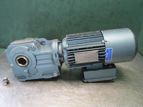 Sew-Eurodrive DFT80K4BM61HR Electric Gearmotor 3/4 HP 68 RPM 3 PH w/Brake