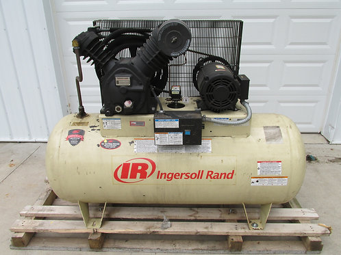 Ingersoll Rand Model 2545E10V Type 30 Horizontal Air Compressor 2 Stage 10 HP