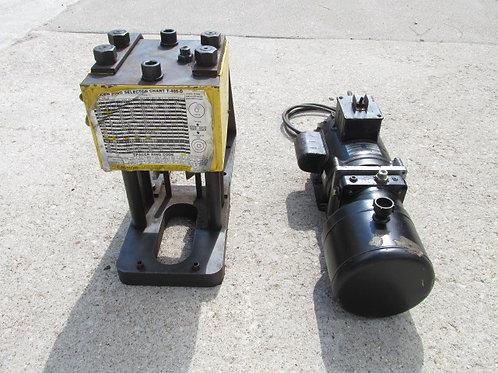 Dana Weatherhead Coll-O-Crimp I T-400 Hydraulic Hose Crimper & Electric Pump