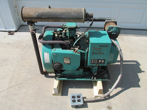 Onan 4.0 RV GenSet 4 BFA-1R/16004C Gas Motorhome Generator 4000 Watt 120v Ph 1