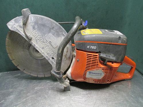 "Husqvarna K760 Gas Powered 14"" Concrete Cutoff Saw w/Diamond Blade Water Hose"