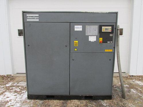 Atlas Copco GA75 Rotary Screw Air Compressor 3 PH 100 HP 100 PSI 462 CFM