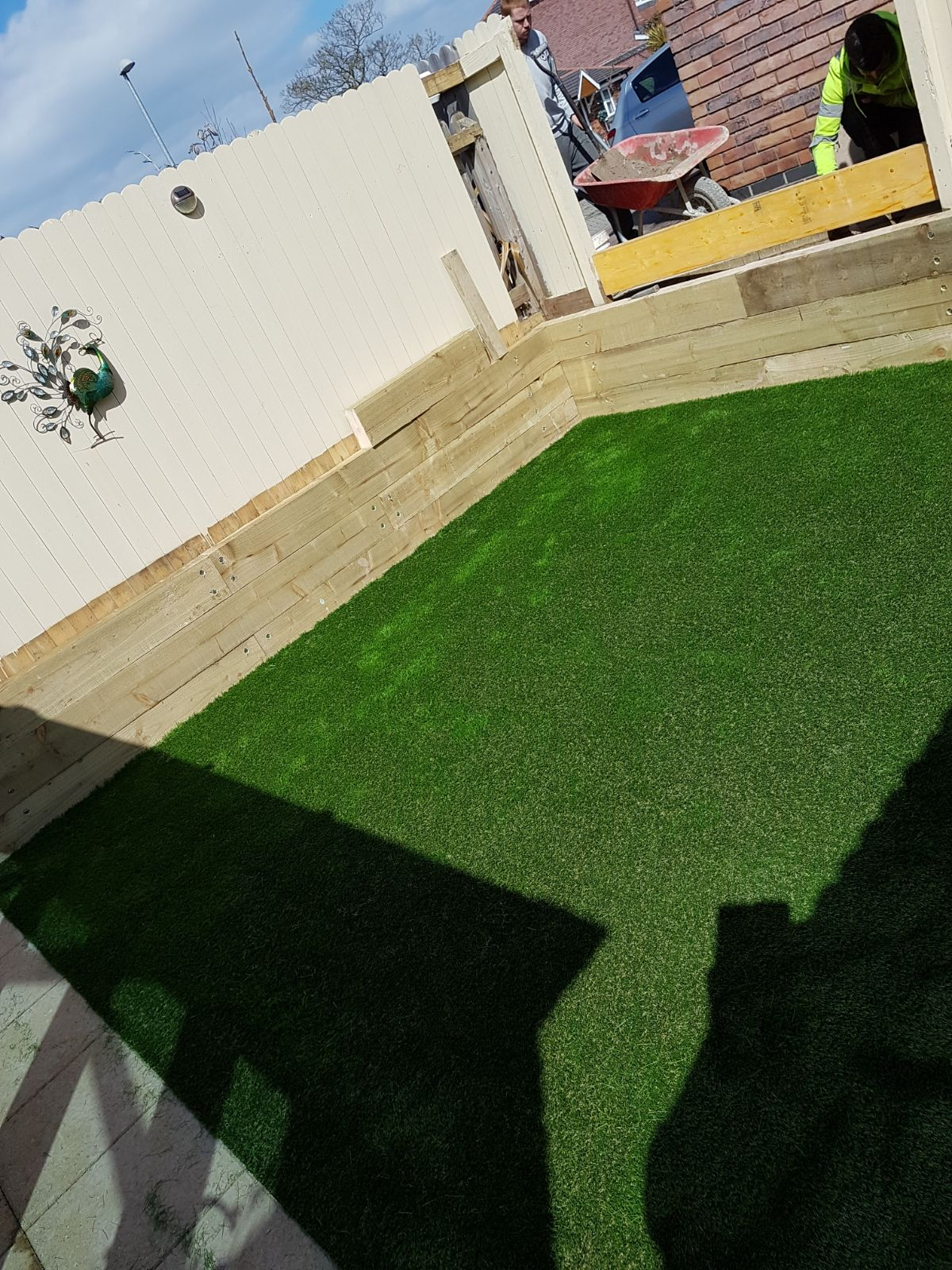 Artificial Grass and Sleepers