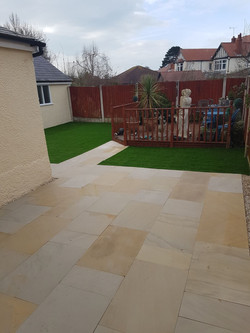 Artificial Grass & Indian Stone