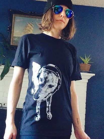 Black Franny Headphone T-shirt