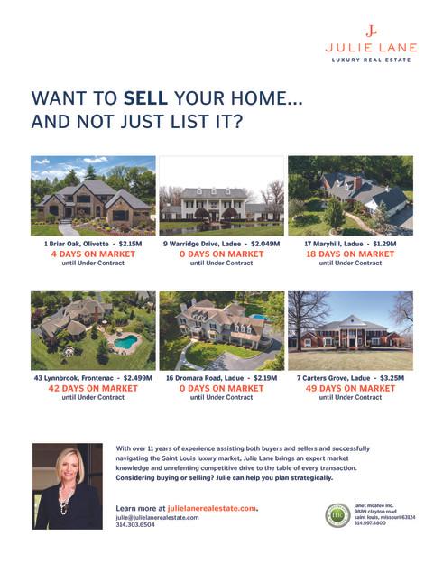 Julie Lane Real Estate in Sophisticated Living 2020