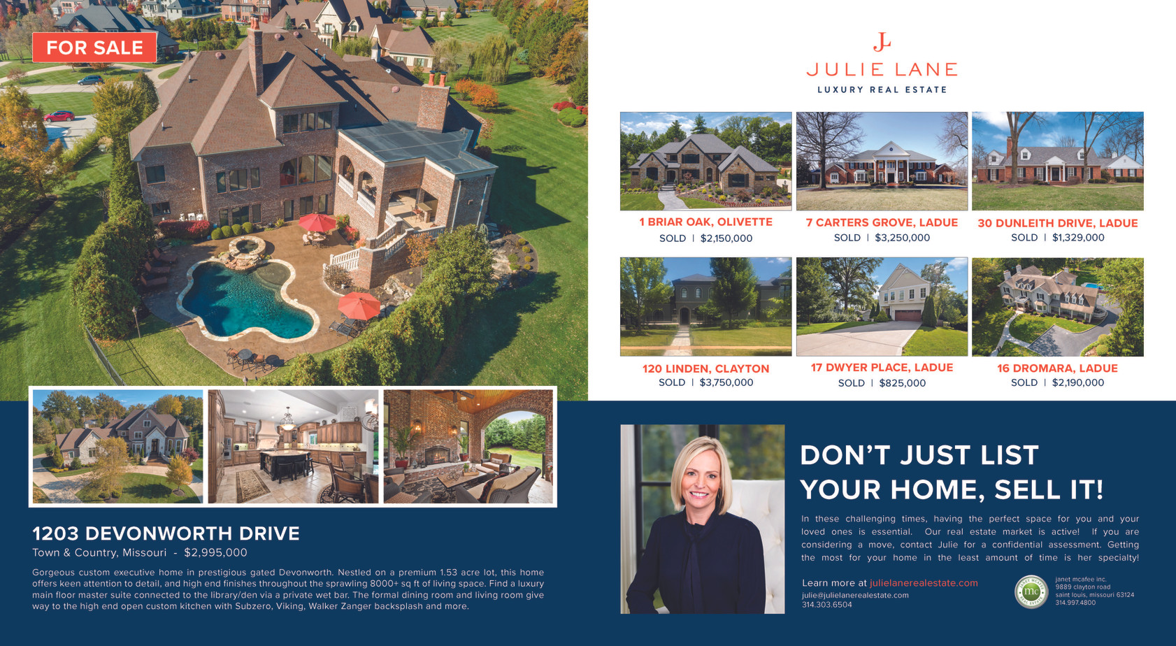 Julie Lane Real Estate in Ladue News