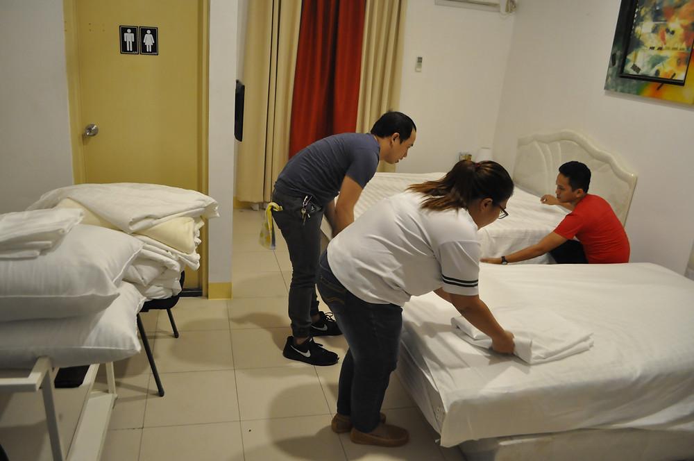 Housekeeping: Bed Making