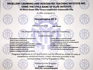 ELITE Institute is now accredited by TESDA