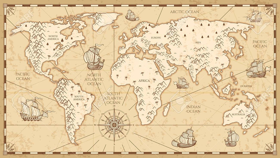 87667630-vintage-physical-world-map-with