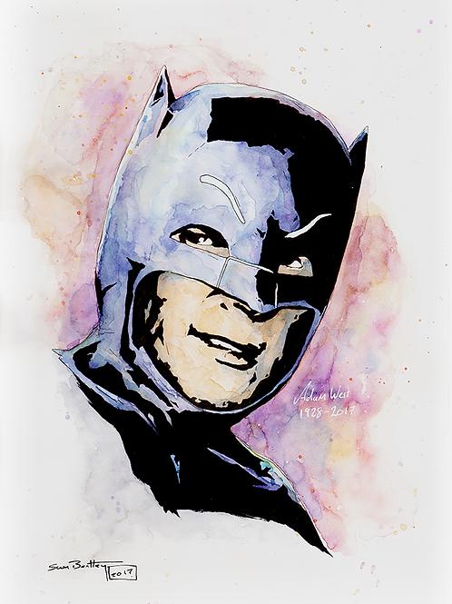 Adam West (as Batman) Original Watercolour (A4)
