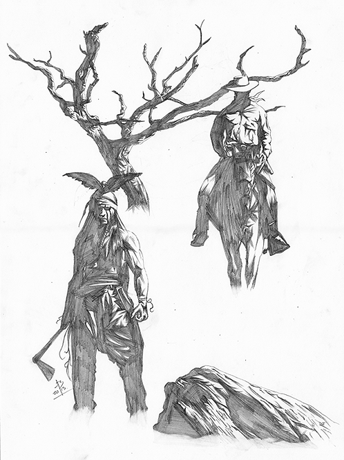 Lone Ranger + Tonto original pencils