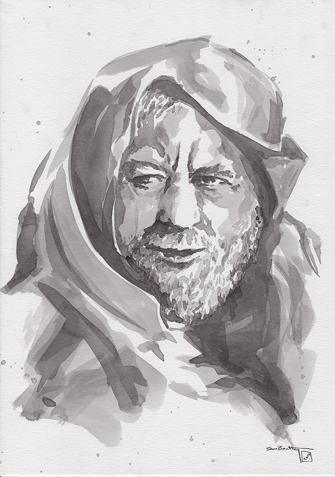 Obi Wan (Alec Guiness) in Ink