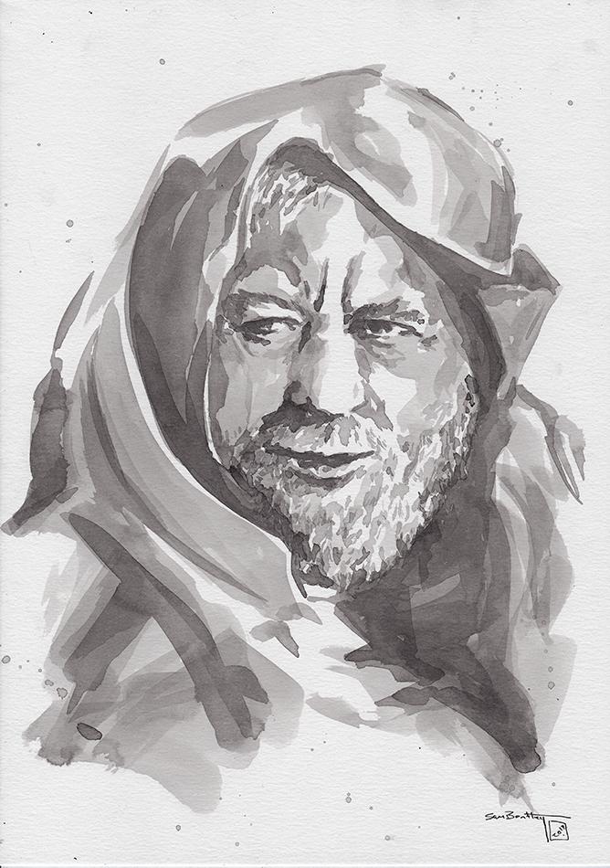 Obi Wan (Alec Guiness) in Ink