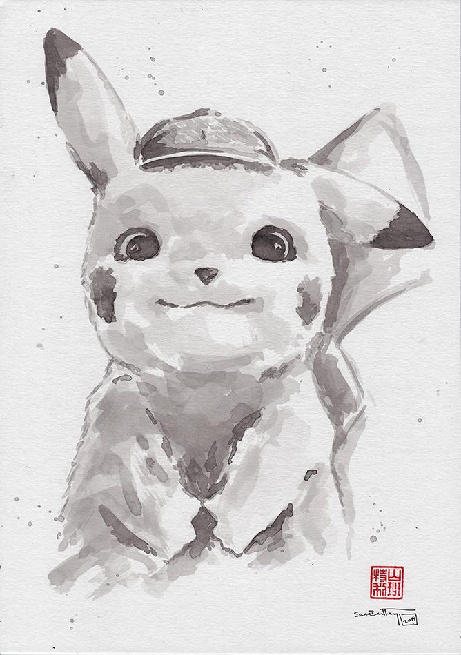 Pikachu Sumi-e
