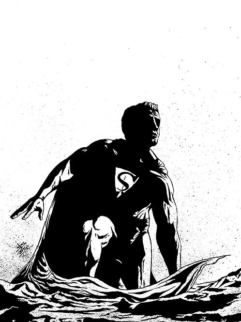 Superman Original Inks