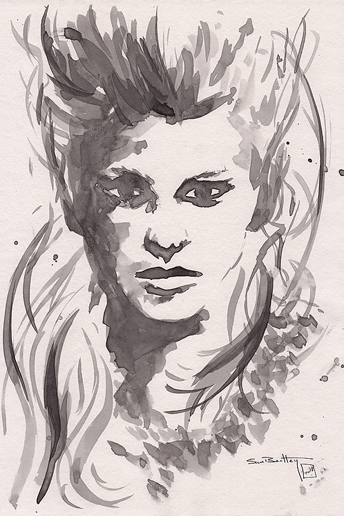 Lagertha (Vikings) in Ink