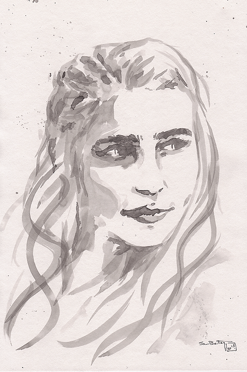Daenerys Targaryen (Game of Thrones) in Ink