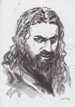 Jason Momoa (as Declan Harp) in Ink