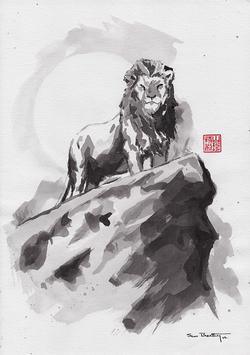 Lion Sumi-e
