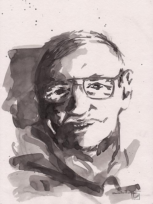 Professor Stephen Hawking in Ink
