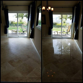 Before & After of a stone floor