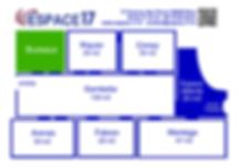 Plan des Salles Espace 17 Nice