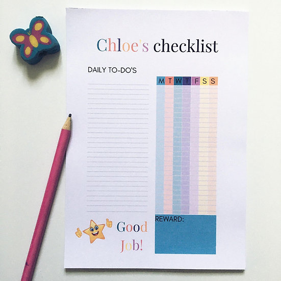 Personalised Checklist
