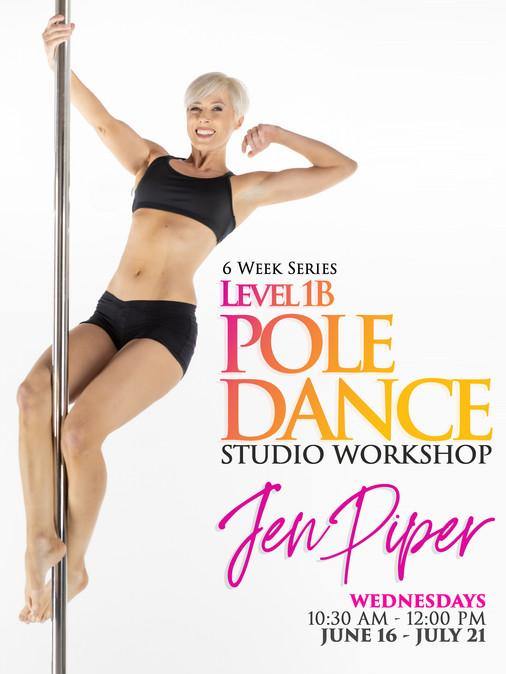 Pole Dance Level 1B Jen Piper June 2021