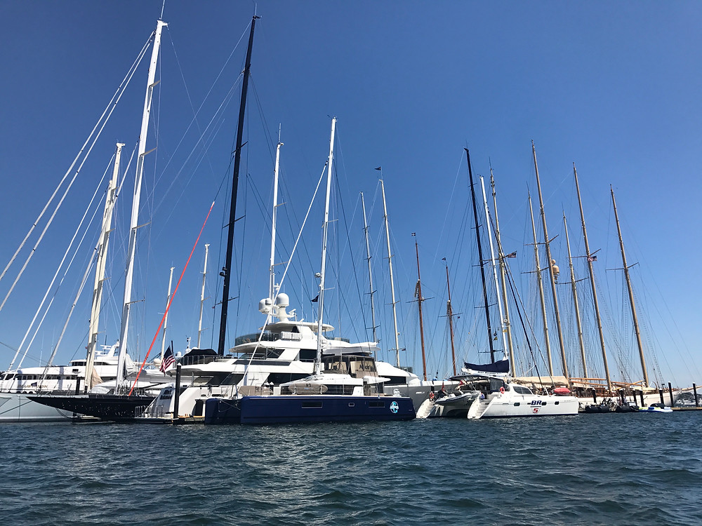 Summer Kai among the big boats!