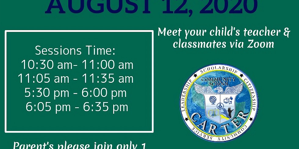 Back to School Virtual Open House