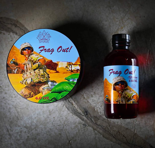 Frag Out! Shave Soap and Aftershave