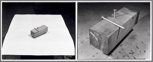 """Nail in 2"""" x 2"""", and Enlargement, 1975"""