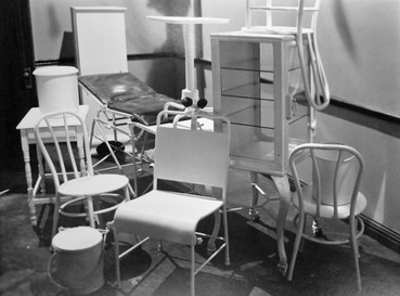 """Pathology lab; movie-for-television, """"Testimony of Two Men"""" — Stage #22. April 11, 1977-"""