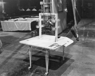 """Baretta"" series make-up table, – Stage #42, April 18, 1977"