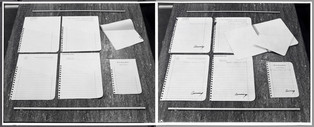 Ring-Bound Stationery, Sketch to Final State, 1975