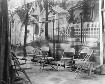 "Backyard flat, the ""Nancy Drew"" series sets – Stage #29. March 21, 1977"